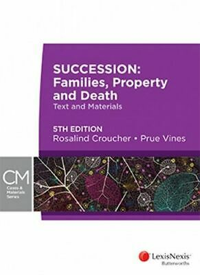 NEW Succession By Croucher & Vines Paperback Free Shipping