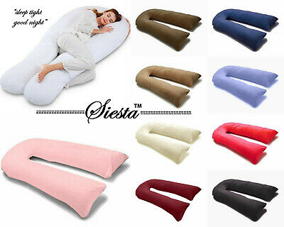 9Ft/12Ft U Pillow Body/Bolster Support Maternity Pregnancy Support Pillow+Case A