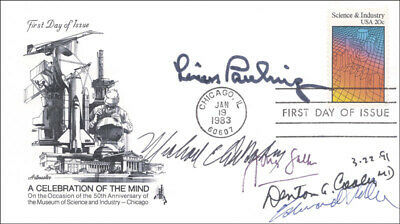Dr. Jonas Salk - First Day Cover Signed 03/22/1991 With Co-Signers