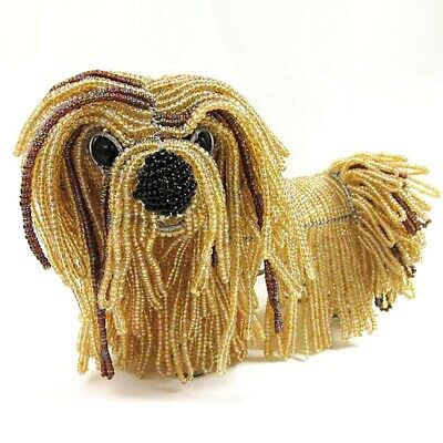 Levi the Lhasa Apso Glass Beaded Sculpture