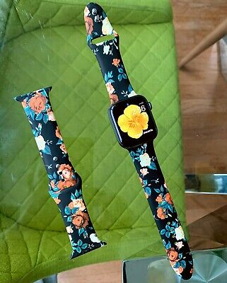Apple watch floral summer silicone bands all series
