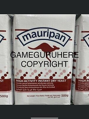 YEAST. Mauripan Instant Dry Bakers Yeast: 500g BULK PACK. ROYAL MAIL POST