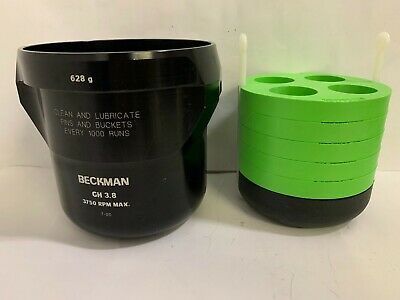 Beckman GH-3.8 Centrifuge Swinging Buckets with Coulter 345369/345371 Tube Swing