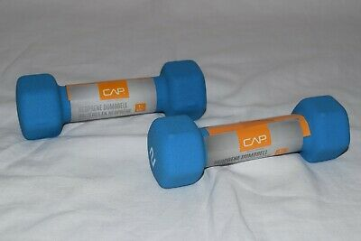 Cap 2 Lb Dumbbells Rubber Coated Hex Weight  Pair ( two / 2 )  NEW - in hand !