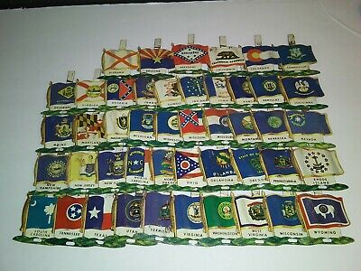 Lot Of 46 Different Vintage 1959 Nabisco State Flag Pins Missing AK,NM and ND
