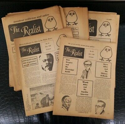 THE REALIST Magazine ~ 15 Issues ~ 1965 & 1966
