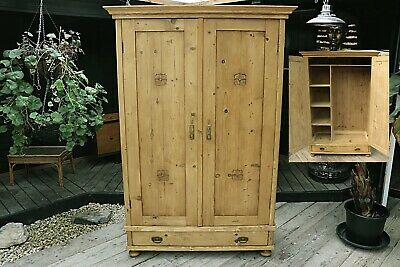 Rare Combination/Compact/Child's Knockdown Old Pine Wardrobe-We Deliver/Assemble