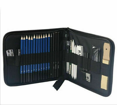 32PCS Drawing Sketching  Pencil Art Set Graphite Charcoal Artists Tool