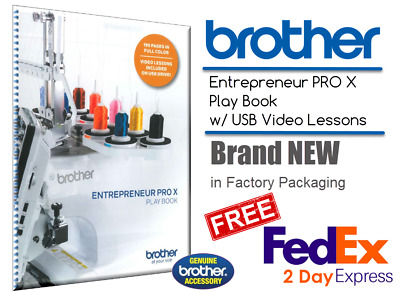 Brother PR1050X Entrepreneur PRO X Play Book Playbook Workbook w/USB Videos