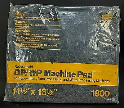 "Rubbermaid DP/WP 1800 Machine Pad 11.5""X13.5""For Data & Word Processing Machines"