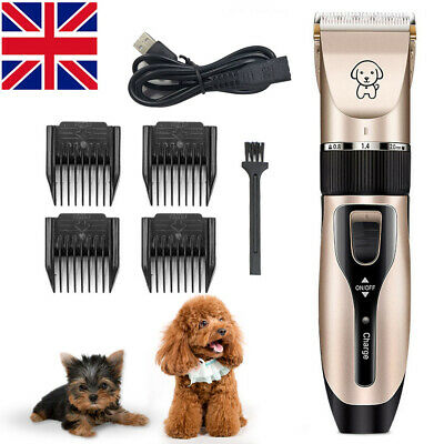 Pet Dog Electric Shave Clipper Hair Low Noise Cordless Cat Grooming Trimmer Kit