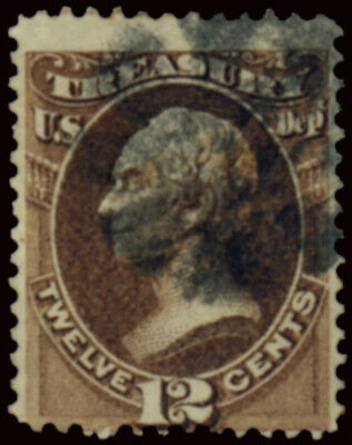 Usa 1873 Treasury Department 12 Cent. (Sc O78) Used Offer!