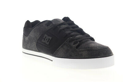 DC Pure TX SE 320423 Mens Black Canvas Lace Up Athletic Skate Shoes
