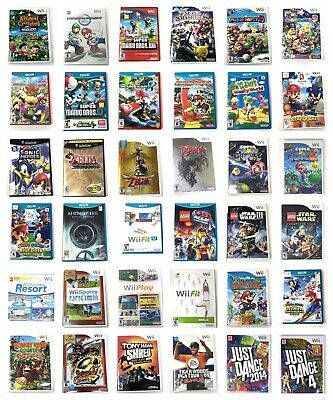 Nintendo Wii Or  U Or Gamecube Games Pick 1 New Super Mario Kart Sports Zelda