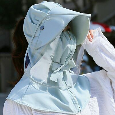 Anti-spray Hat Removable Reusable Face Neck Sun UV Wind Saliva Clear Protection