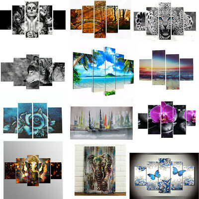 UK Unframed Modern Canvas Print Painting Picture Print Home Wall Decor Gift