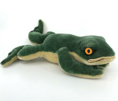 Steiff Froggy Frog Mohair Plush 22cm 9in 1960s no ID Vintage