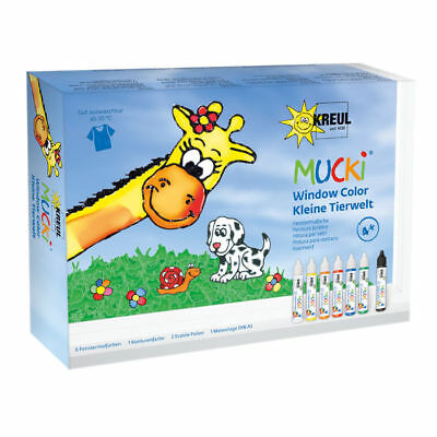 (5,81 € / 100 ml) NEU Mucki Windowcolor 7er-Set