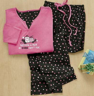 plus size 2X Shoe Lover's Pajama Set from Seventh Avenue Catalog new