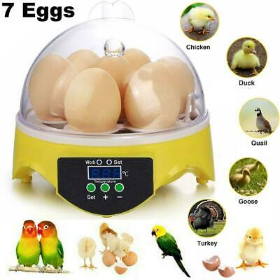 7 Digital Egg Incubator Chicken Duck Hatcher Mini LCD Temperature Control