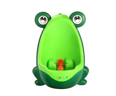 Cute Frog Potty Training Urinal for Boys with Funny Aiming Target| easy to clean