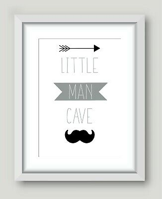 Kids Children's Bedroom Prints Wall Art Quotes Decor Modern Boys Man Cave A4