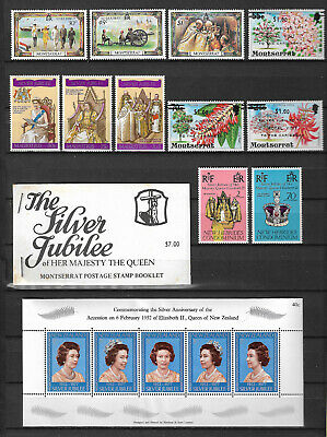 GB 1977 Silver Jubilee stamp collection stamps x 101,mini sheets x 9 booklets x7