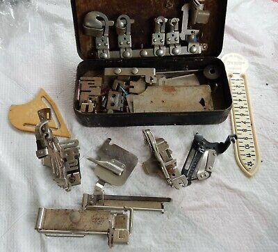 Vintage Sewing Machine Various Singer and Greist Attachments