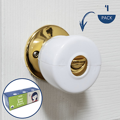 Wittle Door Knob Safety Cover - 4 Pack | Baby Proof Door Lock