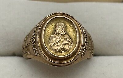 VINTAGE DEMOLAY CHEVALIER RING STERLING SILVER SIZE 11.1//2-20 GRAMS MASONIC