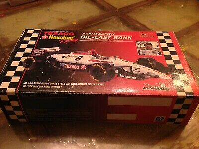 Michael Andretti Die Cast Bank 1995 Indy Car 1/24 Scale Texaco