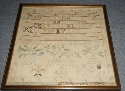13 year old girls sampler dated 1818
