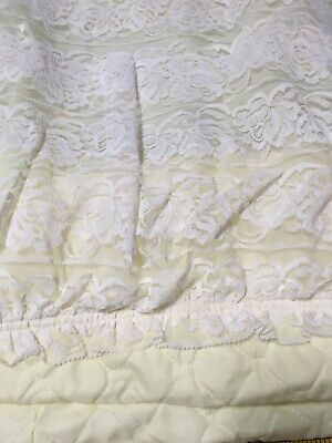 Vintage Yellow & Lace Bassinet Cover Skirt