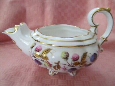 Royal Stafford, England, Golden Bramble Pattern. Footed,  8 Ounce Creamer - Vgc