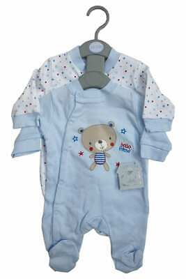 Baby Boys Girls Boutique Branded Babygrows Sleepsuits - 2 Pack