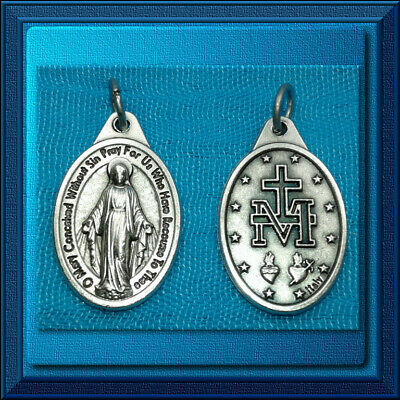 """🕊 Catholic 1"""" Medal 🕊 Miraculous Medal English DETAILED NEW! TOP QUALITY!"""