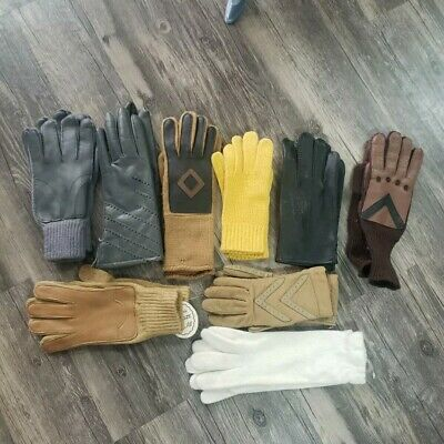 Vintage Isotoner Driving Gloves Lot Of 9 Pairs