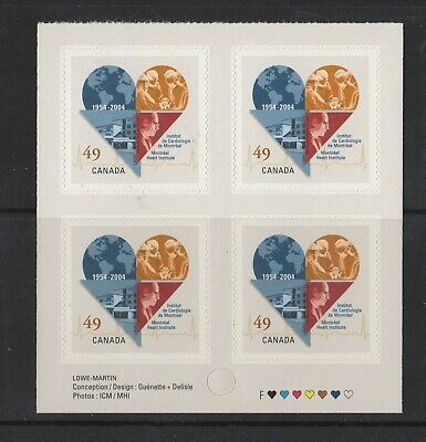 Canada No 2056,  Montreal Heart Institute , Block Of 4,  Mint Nh