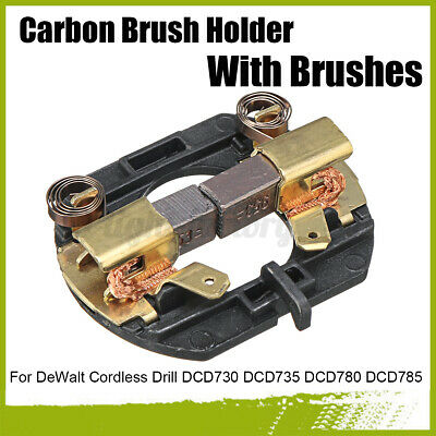 Carbon Brush Holder With Brushes For DeWalt Cordless Drill DCD730 DCD735