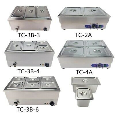 Commercial Bain Marie GN Pan Electric Food Warmer Pot Wet Well Stainless Steel
