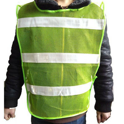 High Safety Security Visibility Reflective Vest Fluorescent Yellow Traffic L