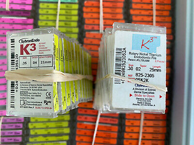 SybronEndo Kerr K3 NiTi rotary endodontic files - 212 packs NEW + 1000 loose