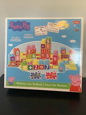 PEPPA PIG LEARN THE NUMBERS STACKING BLOCKS NEW