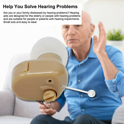 Hearing Aid Invisible Digital Inner Ears Sound Amplifier Deafness Device US P1P4