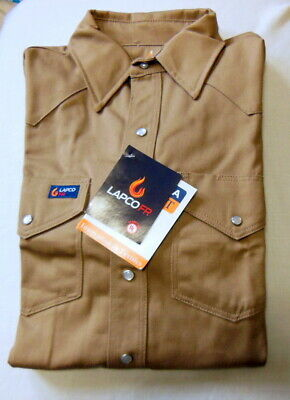 Lapco Flame Resistant snap shirt   size  16 M 34 new with tags