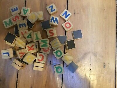 djeco magnetic alphabet blocks hardly used