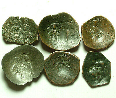 1 genuine ancient BYZANTINE trachy coin Latin Rulers Constantinople Thessalonica
