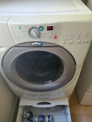 Whirlpool washer and dryer set used, White, Electric