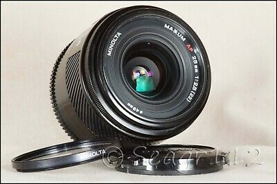 "Minolta Maxxum Vintage 28mm f/2.8 AF ""Crossed Xx's"" Lens (Sony Alpha) Near Mint"