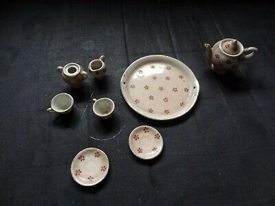 Vintage 9 Piece Miniature Tea Set Occupied Japan